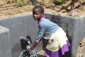 The Water Project: Tumaini Community, Ndombi Spring -  Smiles At The Spring
