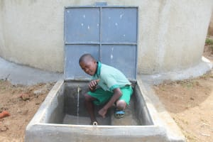 The Water Project: Bugute Lutheran Primary School -  Thumbs Up For Clean Water