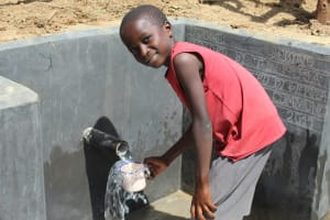 The Water Project: Tumaini Community, Ndombi Spring -  Plenty Of Fresh Water