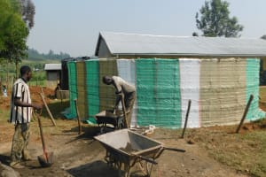 The Water Project: Khwihondwe SA Primary School -  Wall Construction