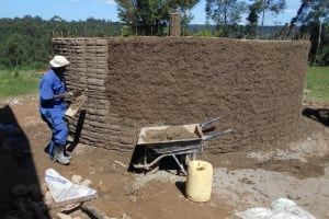 The Water Project: Bugute Lutheran Primary School -  Exrterior Cement Work