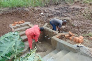 The Water Project: Musiachi Community, Mutuli Spring -  Cementing
