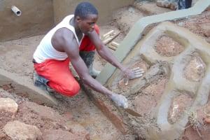 The Water Project: Imusutsu Community, Ikosangwa Spring -  Rub Wall Construction
