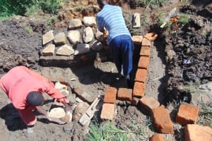 The Water Project: Mukangu Community, Metah Spring -  Brick And Stone Work