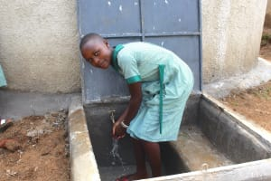 The Water Project: Bugute Lutheran Primary School -  Smiles At The Rain Tank