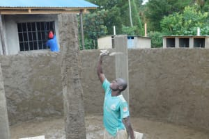 The Water Project: Sawawa Secondary School -  Artisan Plastering Pillars