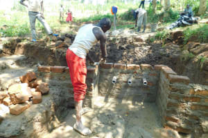The Water Project: Namarambi Community, Iddi Spring -  Wow Three Pipes