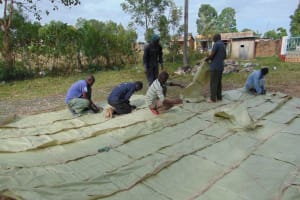 The Water Project: Friends School Ikoli Secondary -  Knitting Sacks Onto Dome Wire