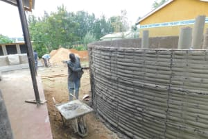 The Water Project: Sawawa Secondary School -  Outside Cement Work