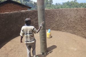 The Water Project: Chiliva Primary School -  Plastering Central Pillar