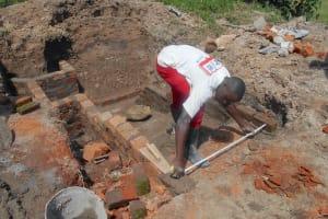 The Water Project: Kalenda B Community, Lumbasi Spring -  Measuring The Stairs