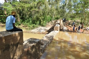 The Water Project: Ngitini Community D -  Building Up Dam Walls