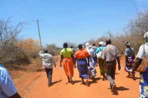 The Water Project: Wamwathi Community -  Shg Members Walk To Training Activity