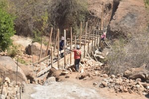 The Water Project: Wamwathi Community -  Working On Dam Walls