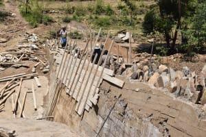 The Water Project: Kyamwao Community -  Dam Progress Phase Three