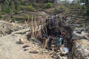 The Water Project: Kyamwao Community -  Building Dam Walls