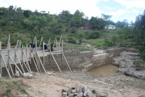 The Water Project: Kyamwao Community -  Late Stages Dam Work