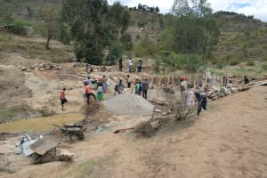 The Water Project: Kyamwao Community -  Phase One Site Work