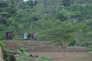 The Water Project: Kyamwao Community -  Shg Members On The Dam