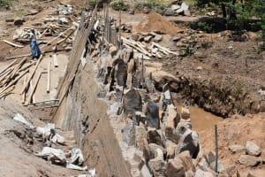 The Water Project: Kyamwao Community -  View Of Stage Three Dam Progress