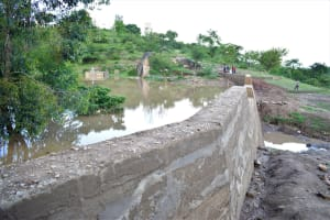 The Water Project: Kyamwao Community -  Water Gathered Behind The Dam