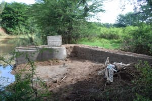 The Water Project: Ngitini Community E -  Nearly Completed Well