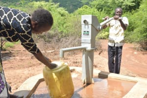 The Water Project: Wamwathi Community A -  Pumping At The Well