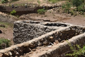 The Water Project: Kyamwao Community A -  Finishing Well Walls And Path