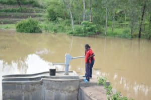 The Water Project: Kyamwao Community A -  Pumping New Well