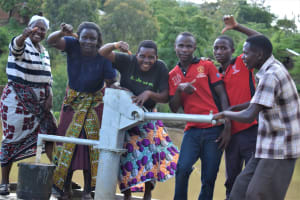 The Water Project: Kyamwao Community A -  Thumbs Up For Reliable Water