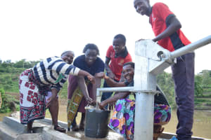The Water Project: Kyamwao Community A -  Water From The Well