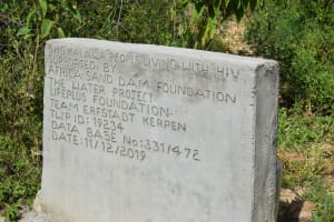 The Water Project: Kaketi Community A -  Shallow Well Plaque