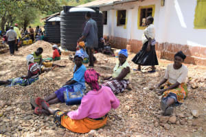 The Water Project: Maviaume Primary School -  Breaking Rocks For Construction