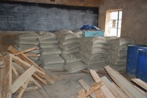 The Water Project: Maviaume Primary School -  Cement Bags
