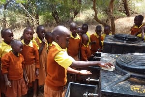 The Water Project: Maviaume Primary School -  Handwashing