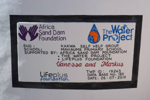 The Water Project: Maviaume Primary School -  Plaque