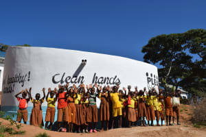 The Water Project: Maviaume Primary School -  Students Celebrate