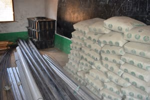 The Water Project: Kyandoa Primary School -  Cement Bags