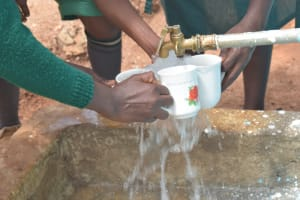 The Water Project: Kyandoa Primary School -  Collecting Water At The Tank