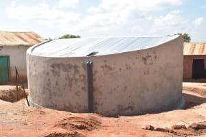 The Water Project: Kyandoa Primary School -  Completed Tank Dries