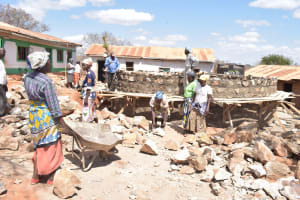 The Water Project: Kyandoa Primary School -  Constructing Tank Walls