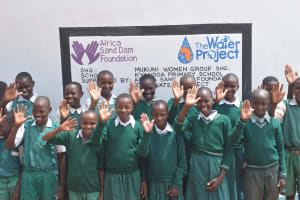 The Water Project: Kyandoa Primary School -  Students At Their New Tank