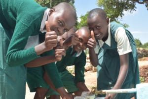 The Water Project: Kyandoa Primary School -  Thumbs Up