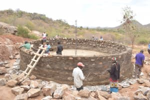 The Water Project: Kangutha Primary School -  Building Up The Tank Wall