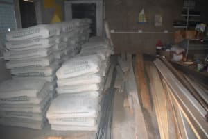 The Water Project: Kangutha Primary School -  Cement And Boards For Construction