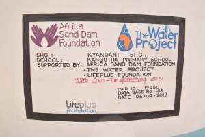 The Water Project: Kangutha Primary School -  Dedication