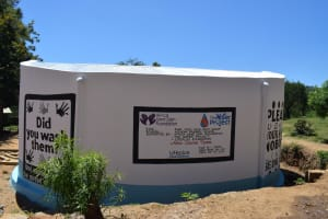 The Water Project: Kithoni Primary School -  Complete Tank