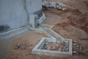 The Water Project: Kithoni Primary School -  Faucet And Drainage Area