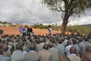 The Water Project: Kithoni Primary School -  Students Listen During The Training