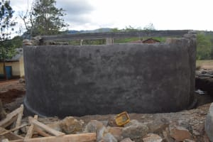 The Water Project: Kithoni Primary School -  Tank Wall Construction